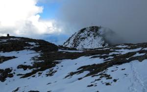 Nun ist auch der letzte Gipfel des Tages fast erreicht.
