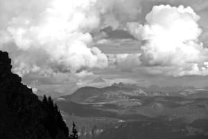 Sogar die Dolomiten zeigen sich nun.