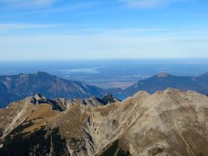 Noch einmal die Aussicht ins Alpenvorland