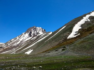 Hier beginnt unsere Tour. Im Hintergrund der Cerro Gastón.