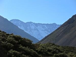 Am Ende des Tals des Río Azufre steht der selten bestiegene Sechstausender El Alto.