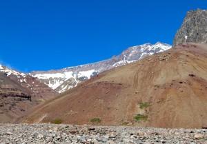 Der Tupungato mit seinem langen, flachen Nordgrat
