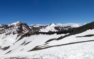 Blick auf die argentinische Seite mit dem Cerro Orientación im Vordergrund
