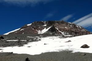 Der Gipfelaufbau - dort soll es morgen hinauf gehen.