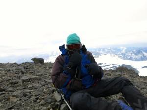 Am Gipfel ist es eher ungemütlich.