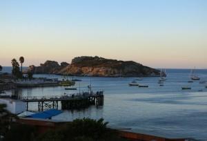 Abend am Hafen von Pichidangui