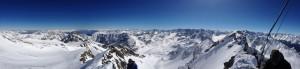 Wunderbare Aussicht am Gipfel des Zwieselbachers