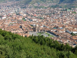 Tiefblick auf Cusco