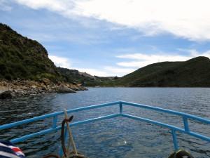 Auf dem Boot zur Isla del Sol.
