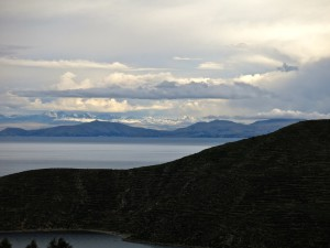 In der Ferne die Cordillera Real