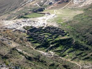 Der Ruinenort Chincana