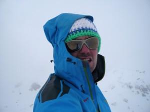 Am Gipfel der Breiten Krone war es dann eher nicht so gemütlich.
