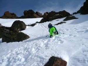 Ein Tiroler Sohn in der Gipfelflanke