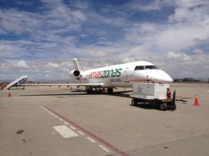 Amaszonas fliegt von La Paz nach Uyuni.