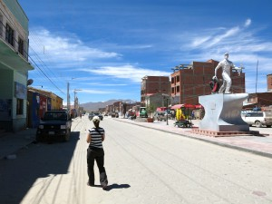 In den Straßen von Uyuni