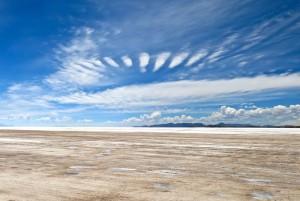 Weiter Himmel über dem Salar