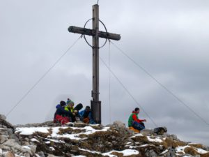 Gipfeljause am Roßstein