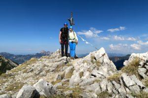 Zufrieden am Gipfel
