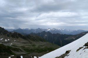 Blick in die Stubaier vom Weißmaurachjoch