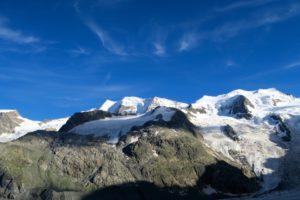 Die majestätischen Gipfel von Piz Palü und Bellavista