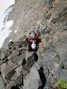 Abstieg am Westgrat