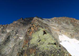 Klettern am Gratturm