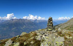 Schöne Aussicht; links der Kamm vom Kirchbach- zum Zielspitz.