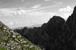 Allmählich kann man wieder etwas weiter sehen als nur bis zur nächsten Felswand.
