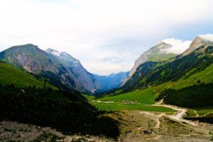 Blick hinab ins Laliderer Tal
