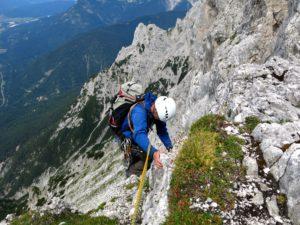 Kletterei am Geberkreuz...