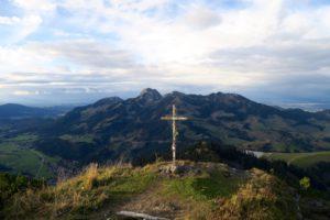 Am Gipfel des Kleinen Traithen