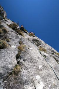 Frühjahrsklettern an der Südwand des Buchsteins