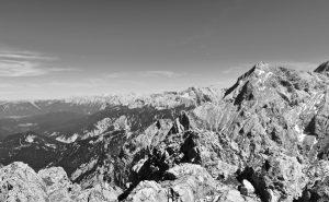 Gipfelblick Richtung Alpspitze...