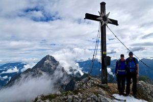 Mit Watzmannblick am Gipfel