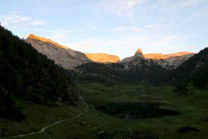 Alpenglühn überm Funtensee