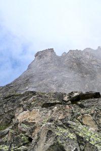 Kurz zeigt sich unsere heutige Kletterroute.