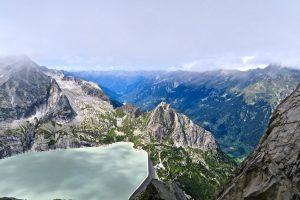 Wolkenspiele überm Albigna-Stausee