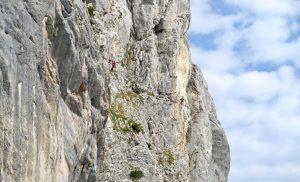 In der Geiselstein Südwand wurde auch geklettert.