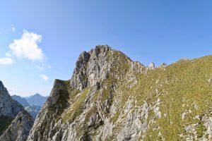 Nun ist auch der Gipfel der Gumpenkarspitze fast erreicht.