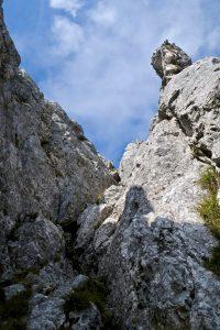Mitten drin in der Kletterei