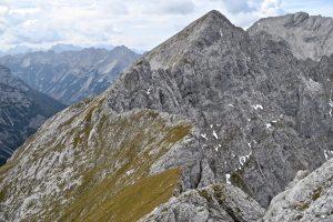 Herrliches Gratgelände auf dem Weg zur Grabenkarspitze