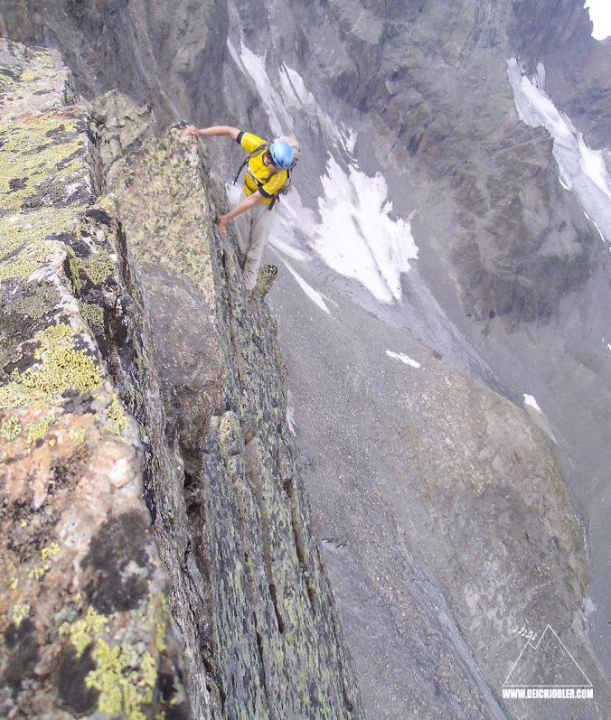 Risiko beim Bergsteigen