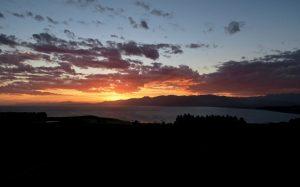 Sonnenuntergang über der South Bay