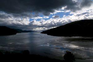 Abend und Ebbe am Queen Charlotte Sound