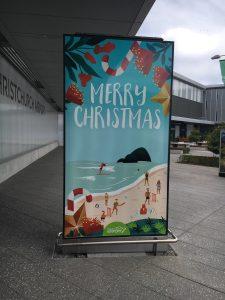 So sieht hier die Weihnachtszeit aus.
