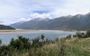 Das Tal des Haast River ist eines der breitesten auf der Westseite der Südlichen Alpen.