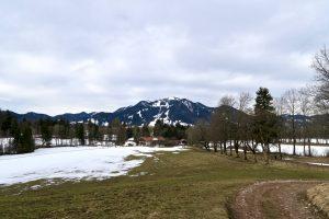 Mühlbach zwischen Winter und Frühling