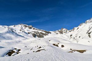 Perfekte Skihänge auf dem Weg zum Zischgeles