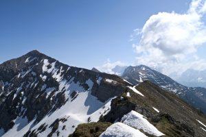 Der einladende Südwestgrat der Hochschrutte