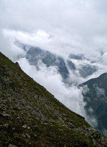 Interessante Wolkenstimmung am Lüsener Fernerkogel